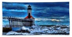 Michigan City Lighthouse Hand Towel