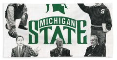 Michigan State Coaching Legends Hand Towel