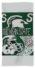 Michigan State Spartans Hand Towel by Jonathon Hansen