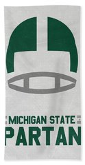Michigan State Spartans Vintage Art Hand Towel by Joe Hamilton