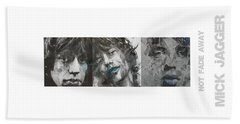 Mick Jagger Triptych Bath Towel