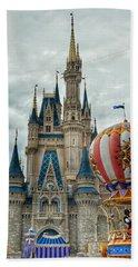 Bath Towel featuring the photograph Mickey Mouse Disney House by Nikki McInnes