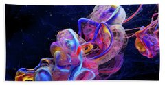 Micro Space - Colorful Abstract Photography Bath Towel