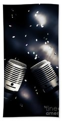 Microphone Club Hand Towel