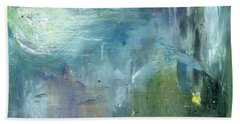 Hand Towel featuring the painting Mid-day Reflection by Michal Mitak Mahgerefteh