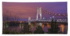 Mid Hudson Bridge At Twilight Hand Towel