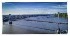 Mid-hudson Bridge In Spring Bath Towel