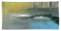 Hand Towel featuring the painting Mid-summer Glow by Michal Mitak Mahgerefteh