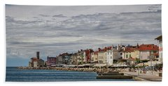 Hand Towel featuring the photograph Midday In Piran - Slovenia by Stuart Litoff