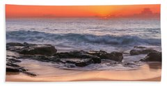 Middle Beach Sunrise Hand Towel
