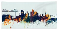 Middlesbrough England Skyline Bath Towel