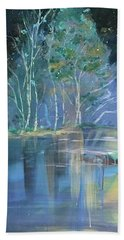 Midnight At Lake Lanier Hand Towel