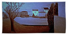 full moon in Italy  bill oconnor Bath Towel
