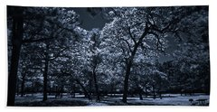 Hand Towel featuring the photograph Midnight Blues by Linda Unger