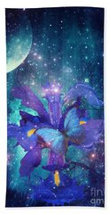 Midnight Butterfly Hand Towel by Mo T