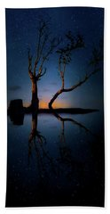 Bath Towel featuring the photograph Midnight Dance Of The Trees by Mark Andrew Thomas