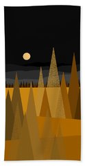 Midnight Gold Bath Towel by Val Arie