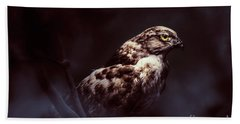 Midnight Hawk Hand Towel
