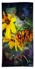 Midnight  In The Garden Hand Towel by MaryLee Parker