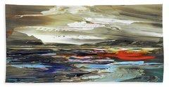 Hand Towel featuring the painting Midnight In The Keys by Tatiana Iliina