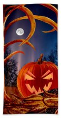 Midnight Jack-o-lantern Hand Towel by Ron Chambers