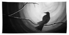 Midnight Raven Noir Bath Towel