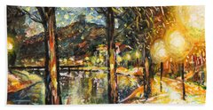 Midnight Reflections Hand Towel