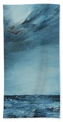 Bath Towel featuring the painting Midnight Sky by Jane See