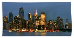 Midtown Manhattan Hand Towel by Zawhaus Photography