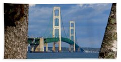 Mighty Mac Framed By Trees Bath Towel by Keith Stokes