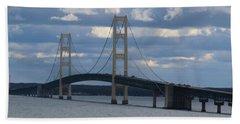 Mighty Mac The Mackinac Bridge Hand Towel