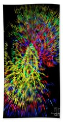 Migraine Scotomas Bath Towel by Diane E Berry