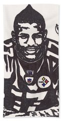 Bath Towel featuring the drawing Mike Wallace 1 by Jeremiah Colley