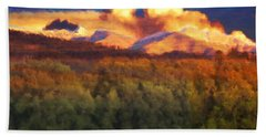 Milagro Cloud Theater Over Truchas Peaks Nm Bath Towel