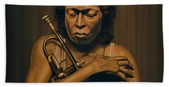 Miles Davis Painting Bath Towel
