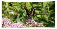 Male American Swallowtail Papilio Polyxenes Bath Towel