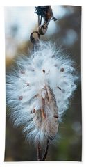 Hand Towel featuring the digital art Milkweed And Its Seeds by Chris Flees