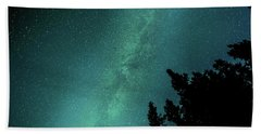 Milky Way Above The Trees Hand Towel