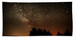 Milky Way And Falling Star Bath Towel