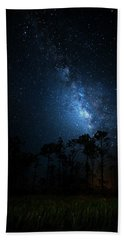 Hand Towel featuring the photograph Milky Way At Big Cypress National Preserve by Mark Andrew Thomas