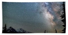 Hand Towel featuring the photograph Milky Way At Mckenzie Pass by Cat Connor