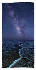 Milky Way At The Salt Flats Hand Towel