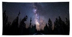 Hand Towel featuring the photograph Milky Way Drive by James BO Insogna