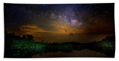 Milky Way Fire Hand Towel by Mark Andrew Thomas
