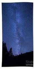 Milky Way Galaxy Hand Towel by Juli Scalzi