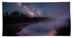 Milky Way In Yellowstone Bath Towel
