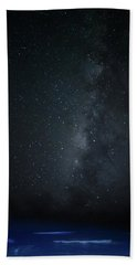 Bath Towel featuring the photograph Milky Way Over Poipu Beach by Roger Mullenhour