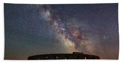 Bath Towel featuring the photograph Milky Way Over Stonehendge by Cat Connor