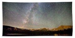 Milky Way Over The Colorado Indian Peaks Hand Towel