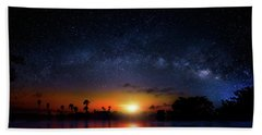 Bath Towel featuring the photograph Milky Way Sunrise by Mark Andrew Thomas